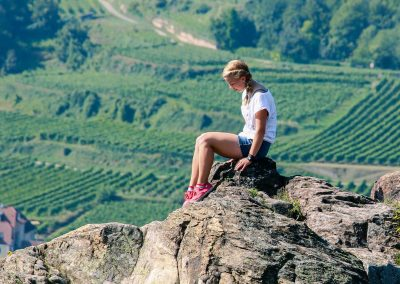 Austria Girl above the Vinyard