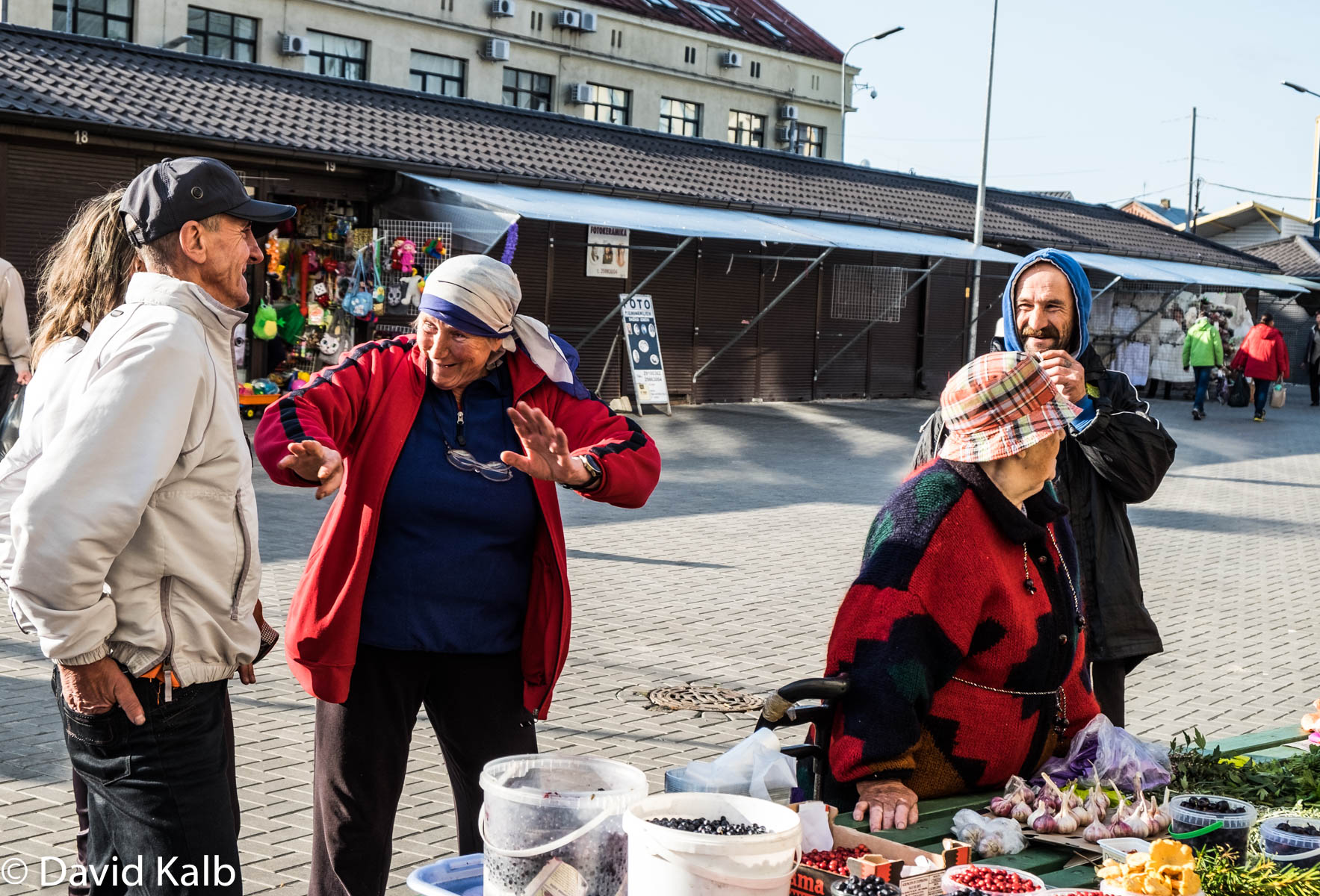 Merchants at Latvia Market
