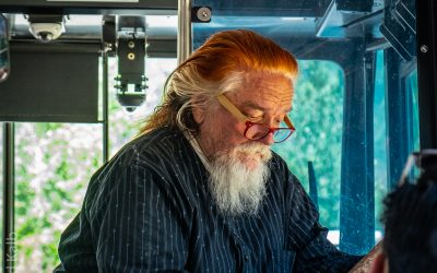 Man on the Aspen Bus