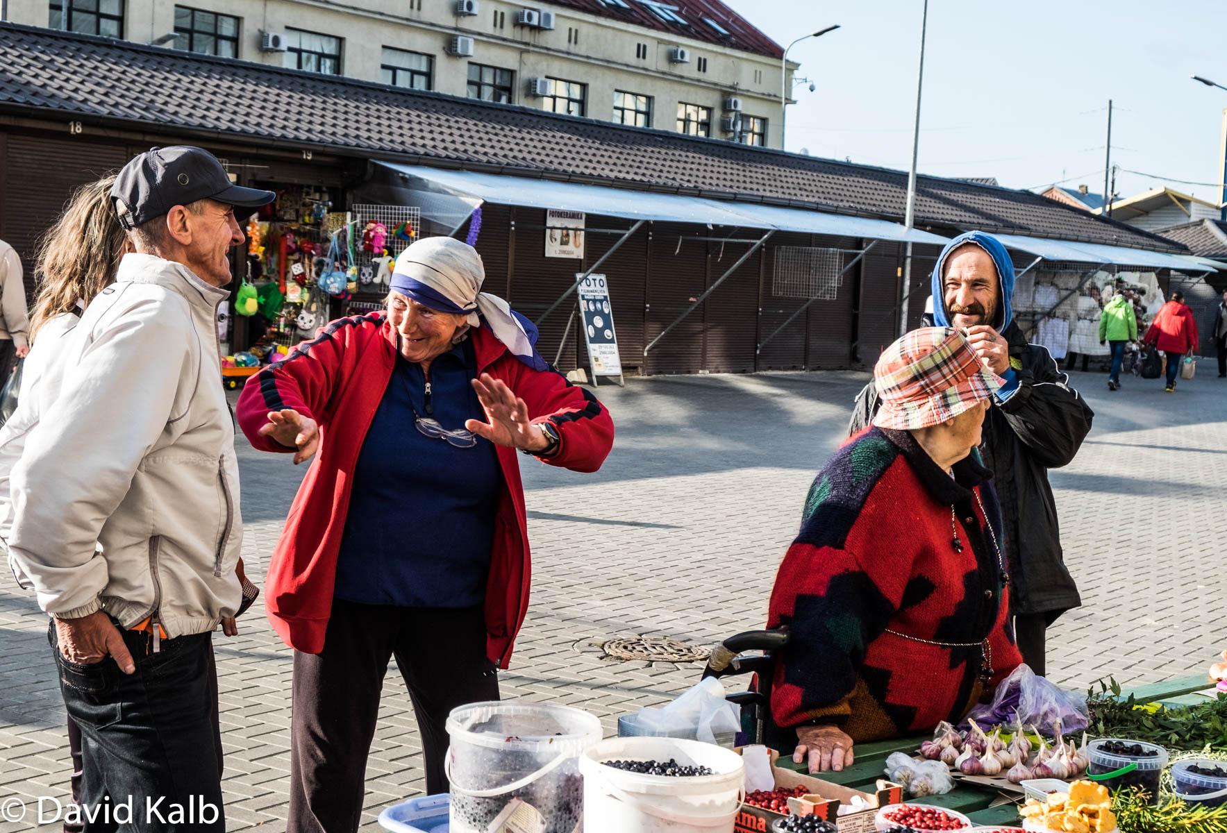 Merchants at Latvia Market