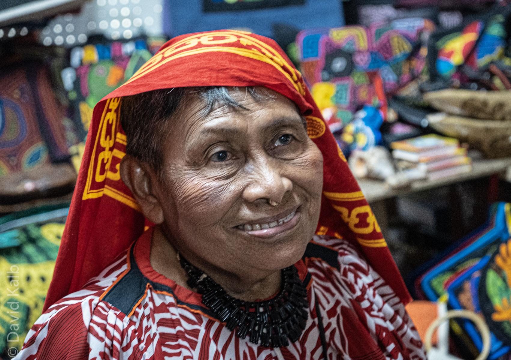Kuna Tribal Woman in Panama